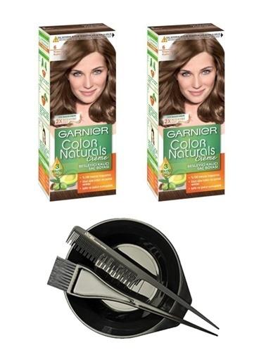 Garnier Garnier 2 Adet Color Naturals Saç Boyası 6 + Saç Boyama Seti Renksiz
